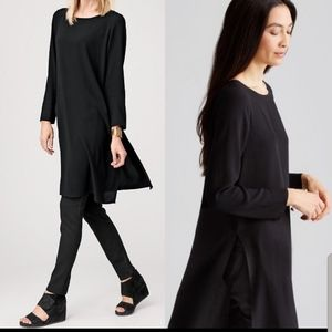 Eileen Fisher Silk Georgette Crepe Tunic